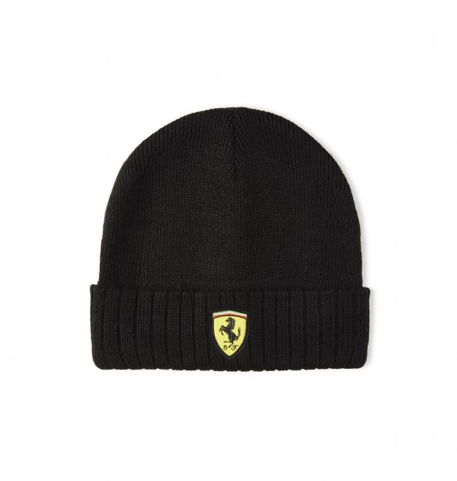 Scuderia Ferrari F1 Official Adults Beanie Hat - Black - 2020/21